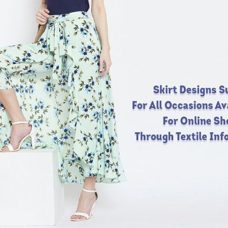 Skirt Designs Suitable For All Occasions Available For Online Shopping Through Textile Infomedia